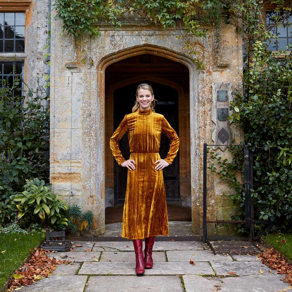 Julie Montagu at Mapperton House