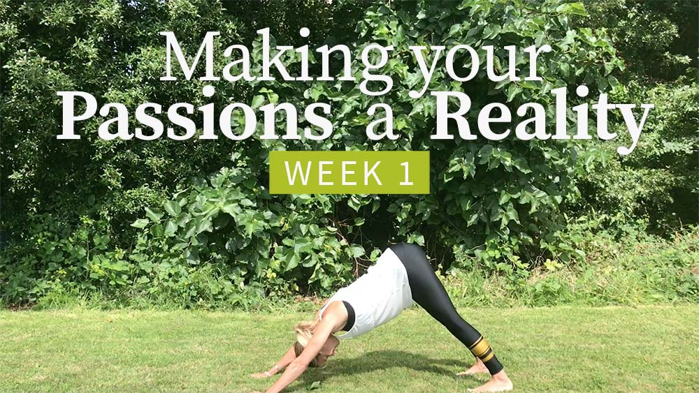 Making Your Passions a Reality - Week 1