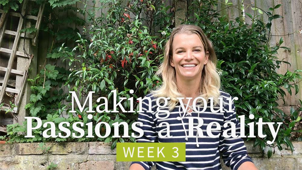 Making Your Passions a Reality - Week 3