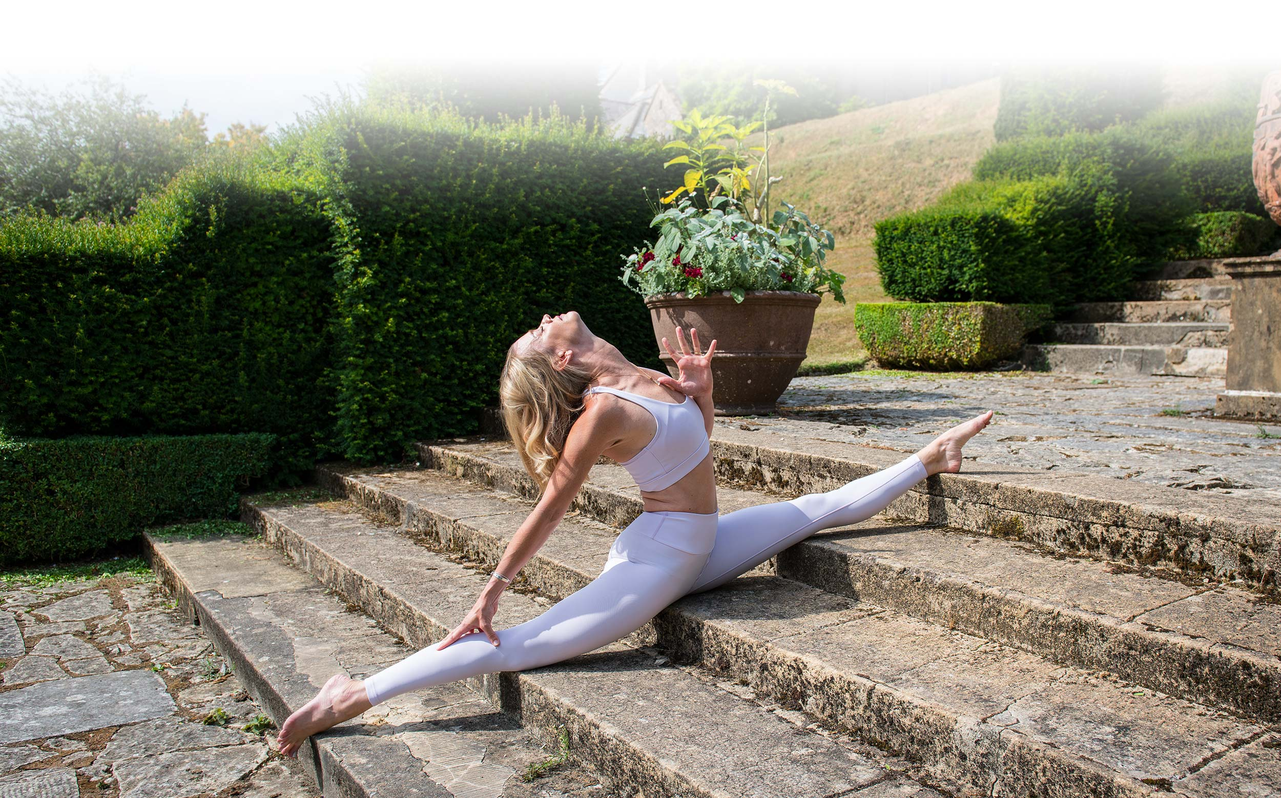 Whole Self Yoga with Julie Montagu in Mapperton Gardens