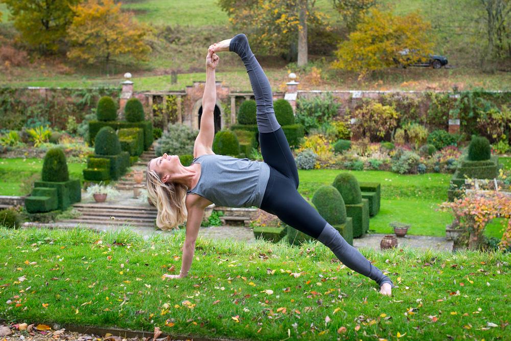 Yoga in Mapperton Gardens with Julie Montagu