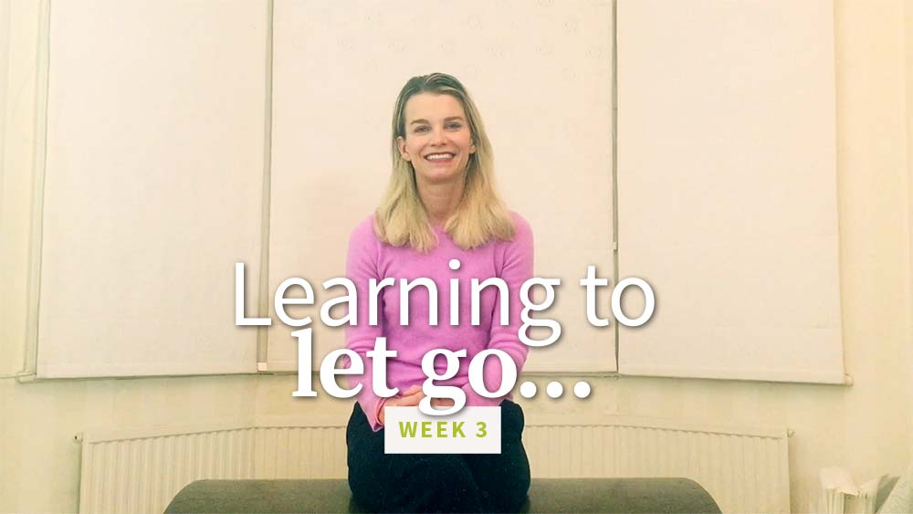 Learning to Let Go - week 3